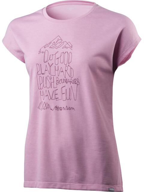 Houdini Big Up Message Tee Women de lila
